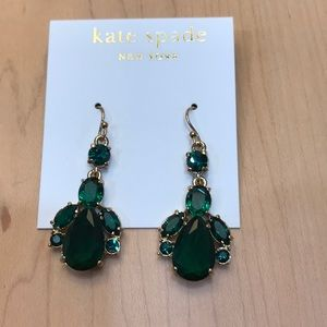 Kate Spade emerald drop earrings